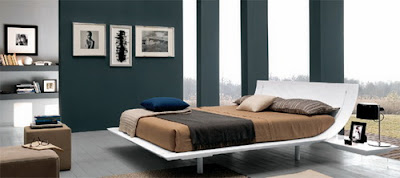Modern and Luxury Curved Bedroom Furniture Design Sets