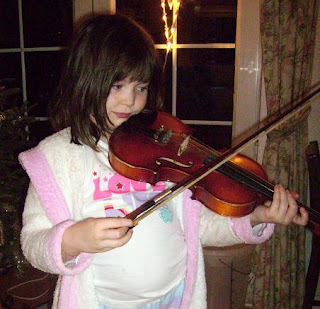 Eleanor playing violin
