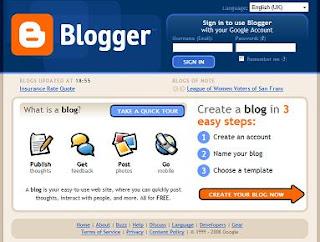 blogger.com homepage