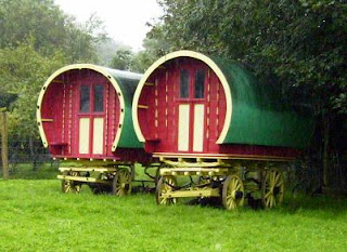 Romany caravans at Bunratty folk park