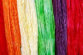 Koo Aid dyed yarn