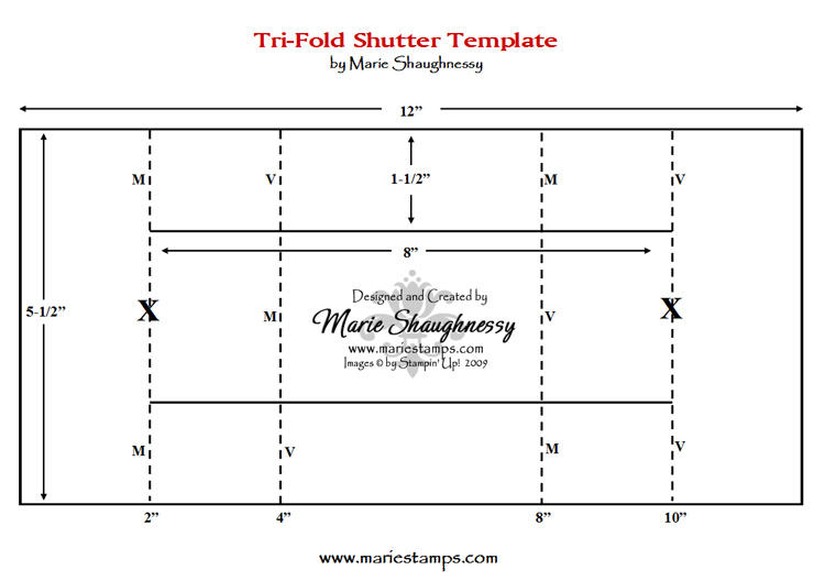 Stamping Inspiration Fun  Fancy Folds  TriFold Shutter