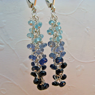 earrings,sapphire,jewelry,blue,apatite,aqua,handcrafted,handmade,custom,beadyize