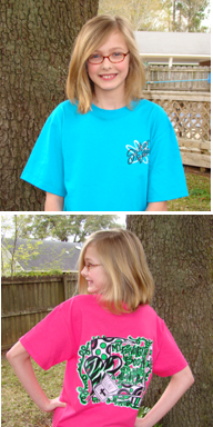 "Our ""Southern Belle"" adoption t-shirts!"