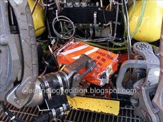 Black box Orange Colour inside aircraft