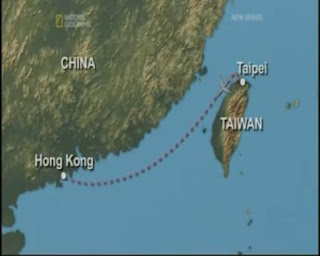 China Airlines 611 Crash Taipet to Hongkong map