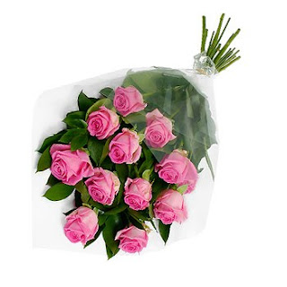 Image of Classic Bouquet of Twelve Pink Roses - SendRegalo.com ~ Send flowers to the Philippines, Send Roses to the Philippines