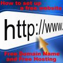 How to set up a free website
