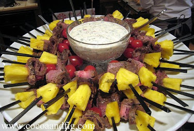 Skirt Steak Skewers With Blue Cheese Dip Recipe — Dishmaps