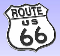 autocad files,dxf art for cnc machine cutting,Route 66 Sign