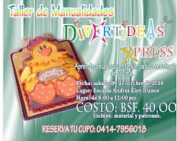 TALLER DE MANUALIDADES DIVERTIDEAS