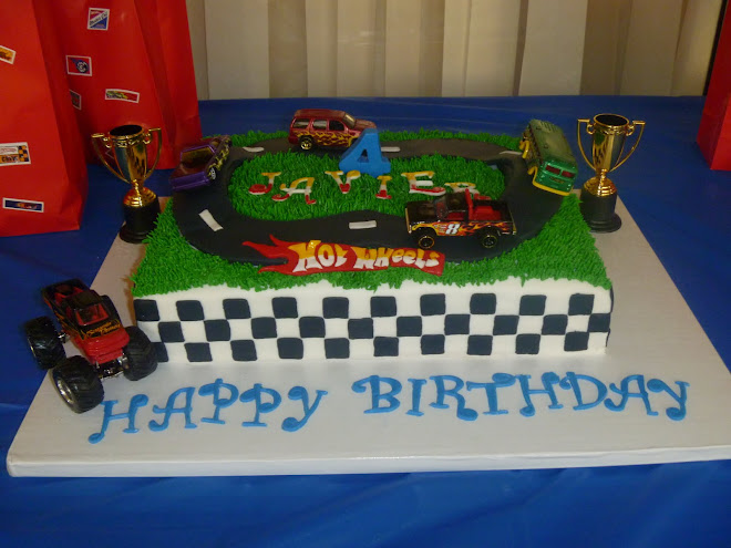Javier's Hot Wheels Birthday Cake