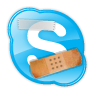 Skype met pleisters