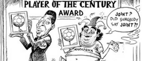 Polémica caricatura sudafricana sobre Maradona
