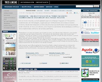 Primer Encuentro Sudamericano de Volkswagen's refrigerados por aire y derivados en Buenos Aires