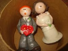 Mi amiga Ro y el Colo el dìa en que se casaron...