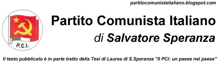 Partito Comunista Italiano (PCI) di Salvatore Speranza (Foggia)