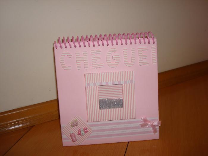 Mini caderno de assinatura para visita de chegada do bebê