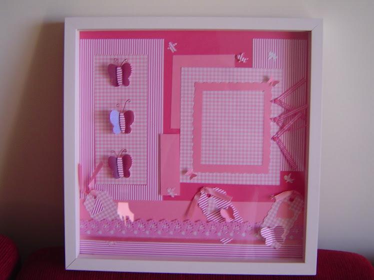 """Quadro """"Para Porta de Maternidade Menina"""""""