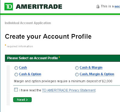 Td ameritrade options bp