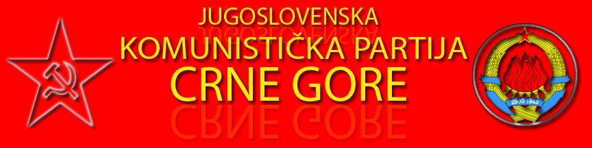 jugoslovenska komunistička partija crne gore