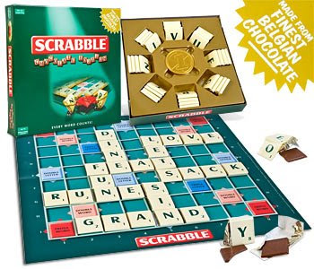 scrabble de chocolate