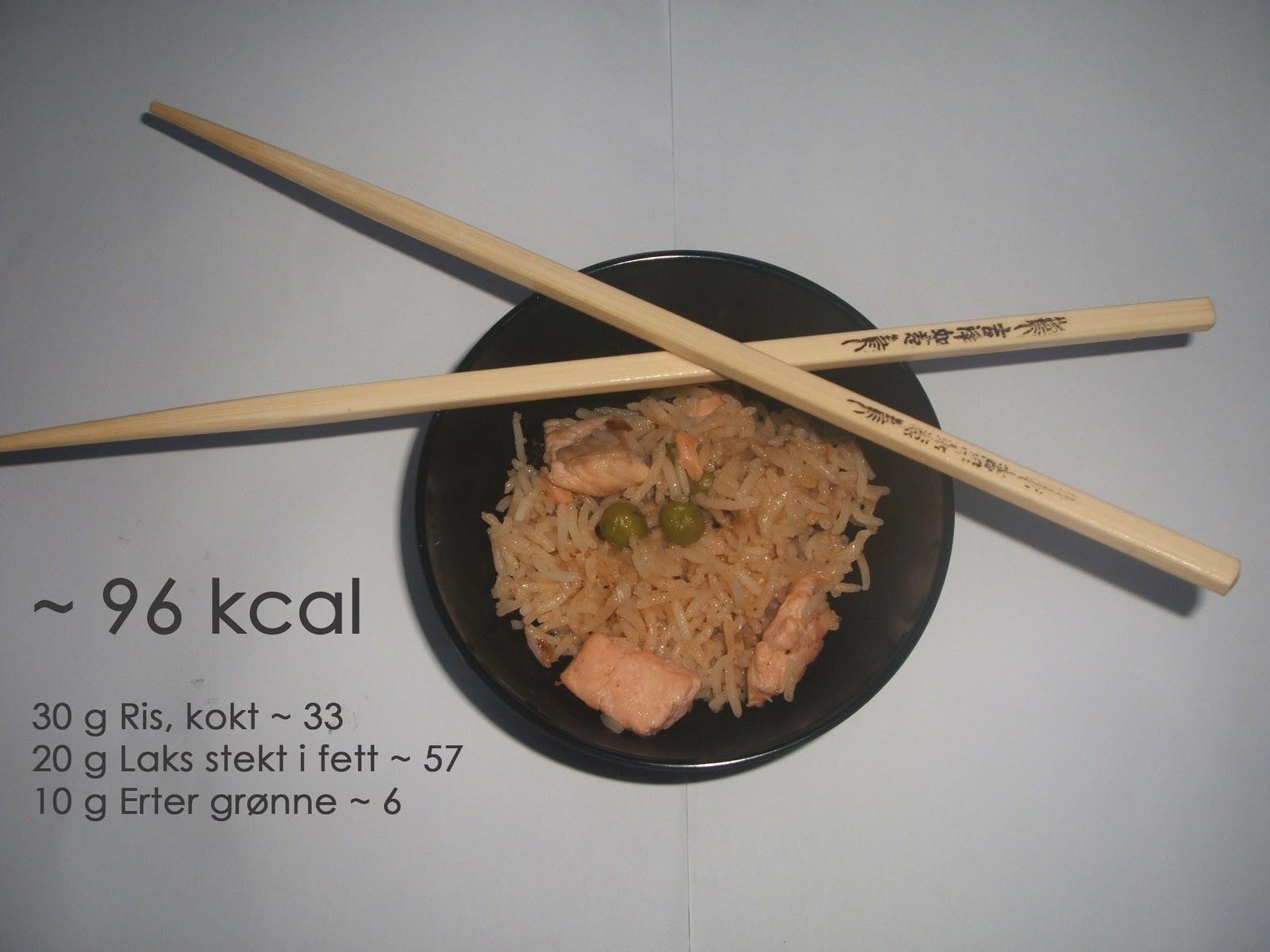 kalorier kokt ris