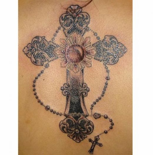 cross tattoos for girls. Cross Tiny cross with wing tattoo design on arm.