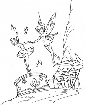 Halloween Coloring Pages: Disney Tinkerbell Coloring Pages