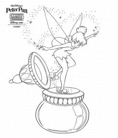 Tinkerbell And Friends Coloring Pages Disney Cartoon Characters