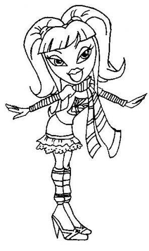 coloring pages princess bratz - photo#12
