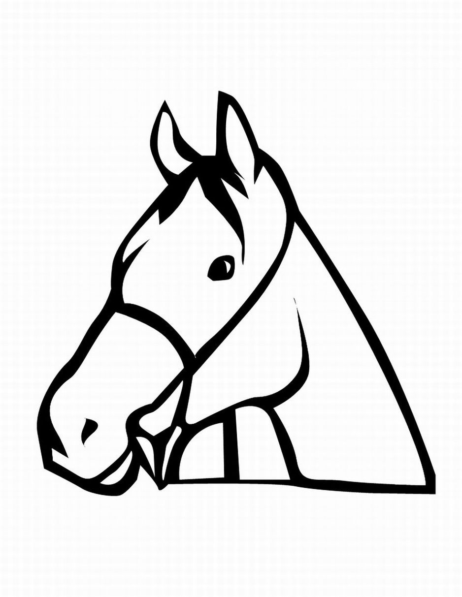 horse head coloring pages printable - photo#3