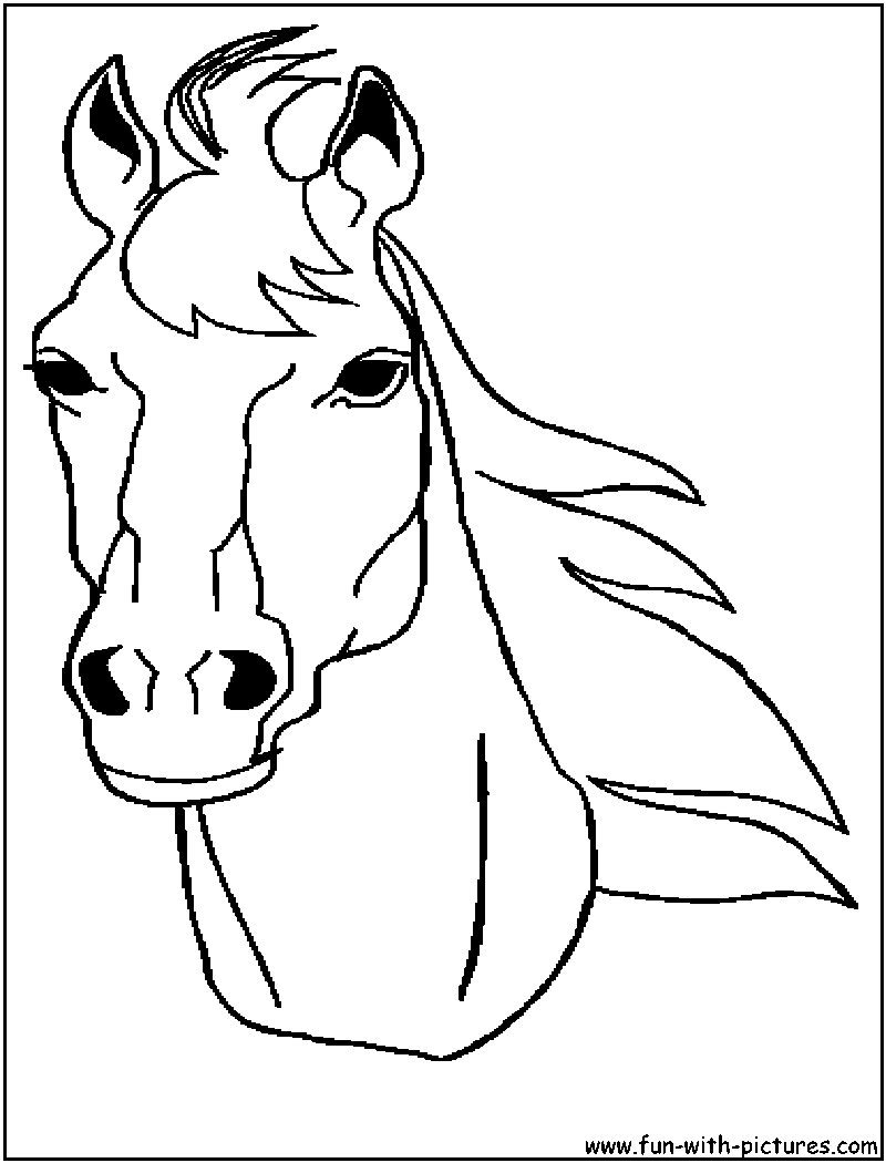 horse head coloring pages printable - photo#1