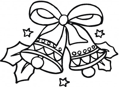 Printable Christmas Bells Coloring Page