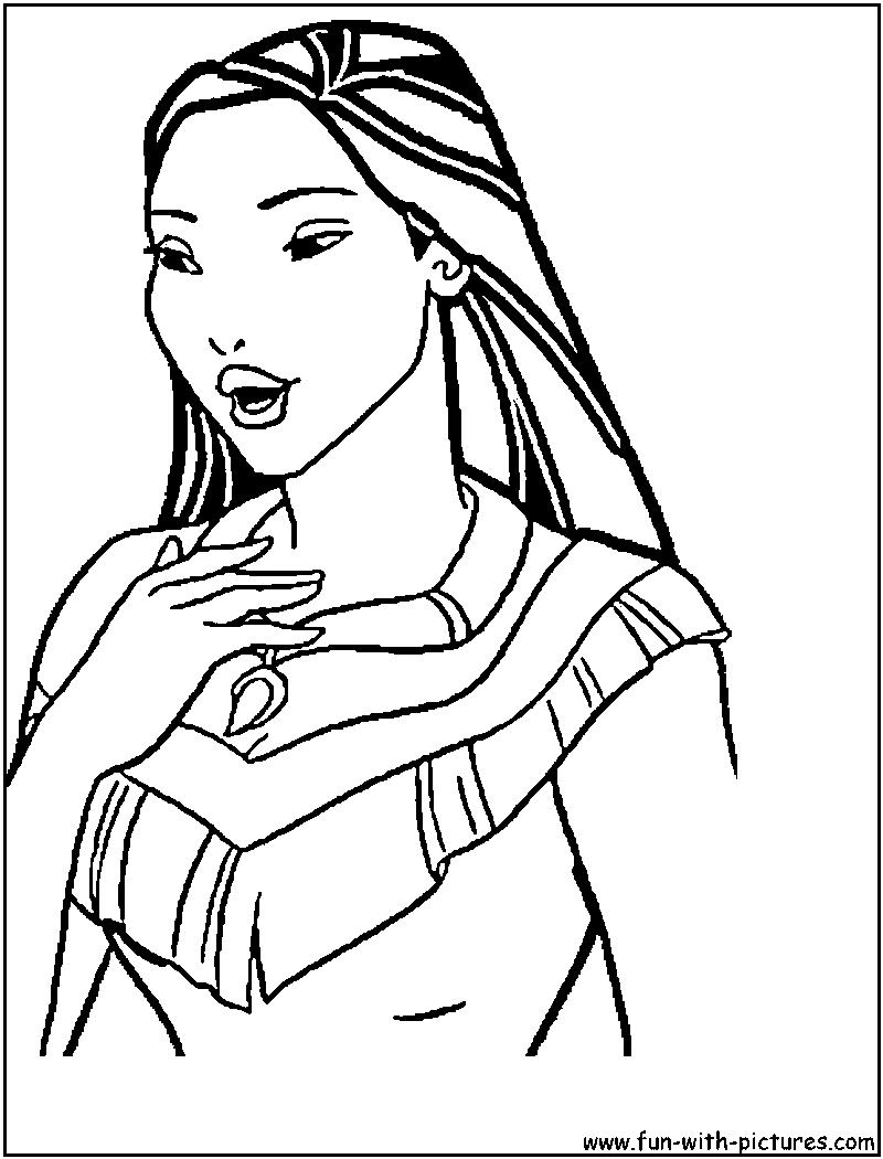 Coloring Pages For Kids Disney Princess Pocahontas | kentscraft