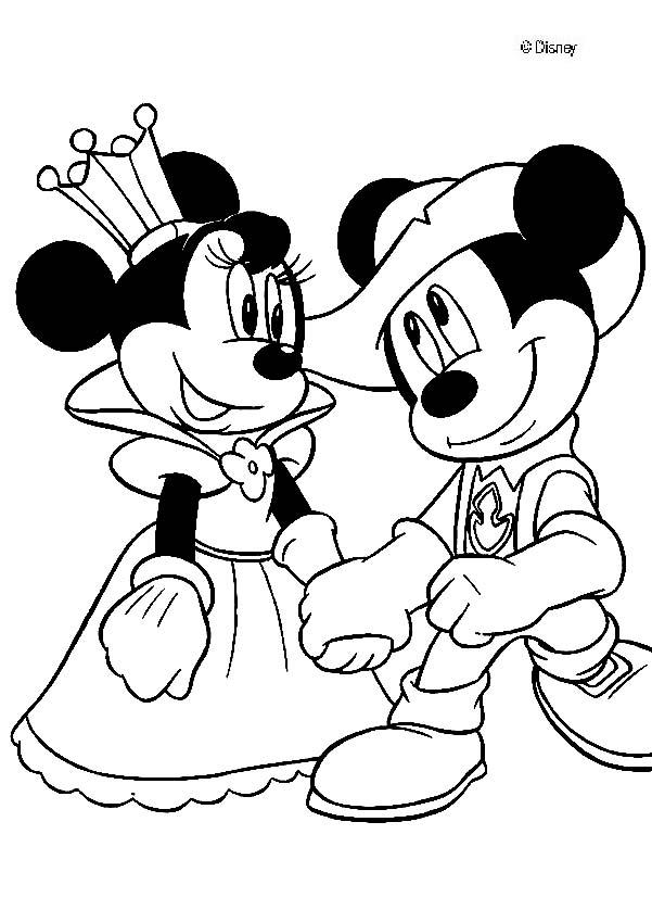Disneyland Printable Coloring Pages Mickey Mouse Free