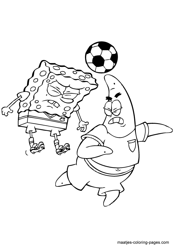patrick and spongebob coloring pages - photo#35