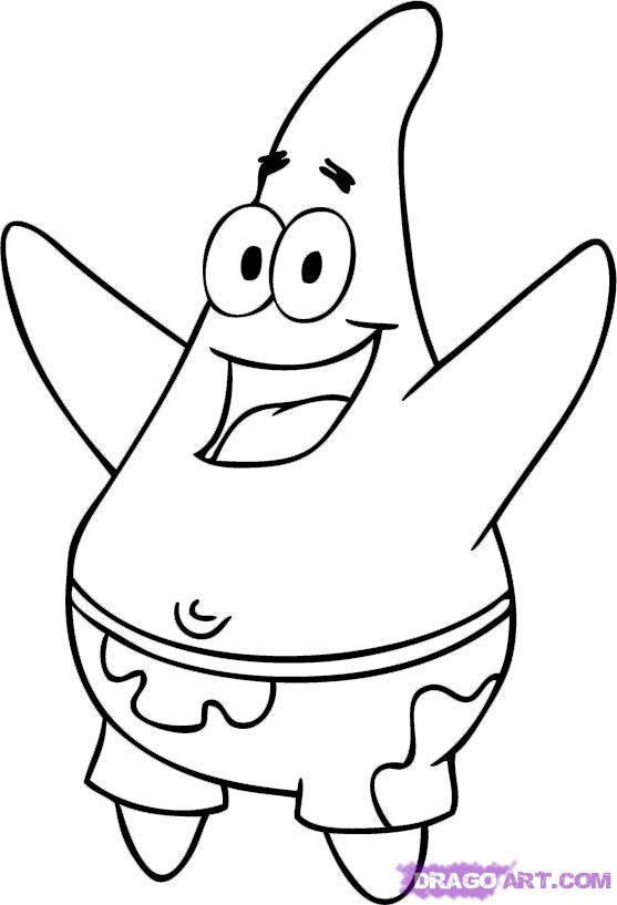 Patrick Star Coloring Pages For Kids | kentscraft