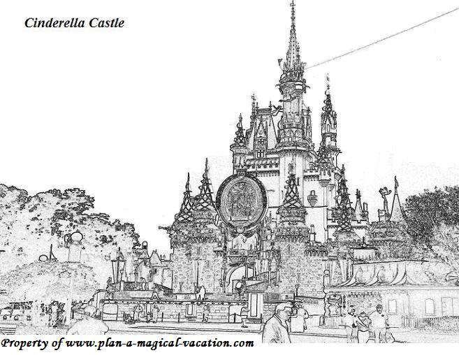 disney world coloring book pages
