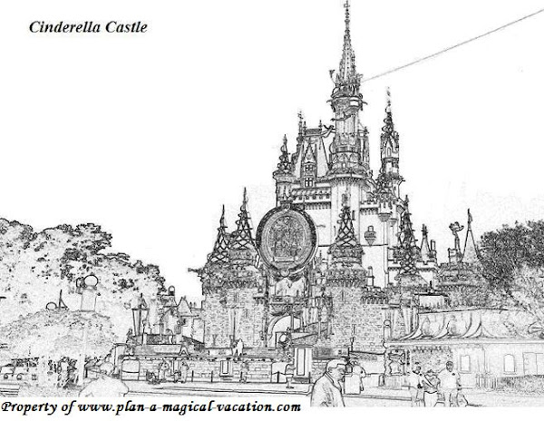 Disney World Castle Coloring Pages