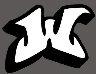 Graffiti ALphabet Fonts W Letters Design