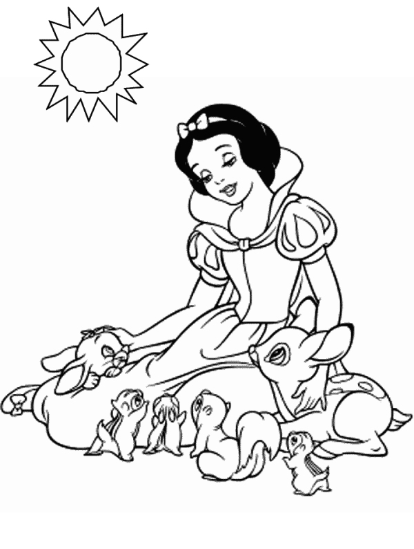 coloring pages of snow whitw - photo#3