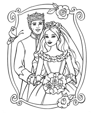 Barbie Dolls Coloring Sheets For Kids Girls
