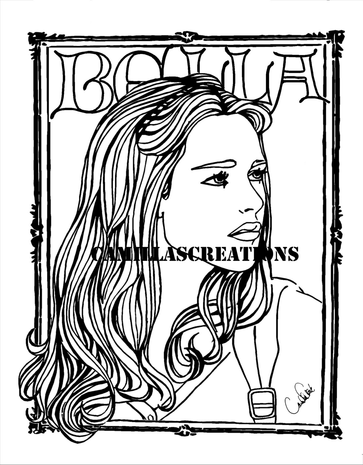 bella swan free coloring pages