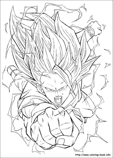 Dragon Ball Z Goku SUper Saiyan Coloring Pages | kentscraft
