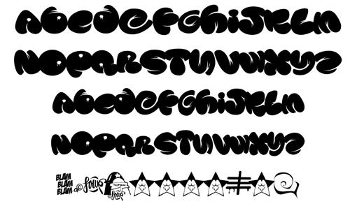 Grafiti New Most Graffiti Buble Fonts Letters Design