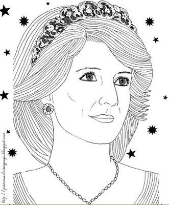 Princess Diana Coloring Pages Princess Diana Coloring Pages Printable