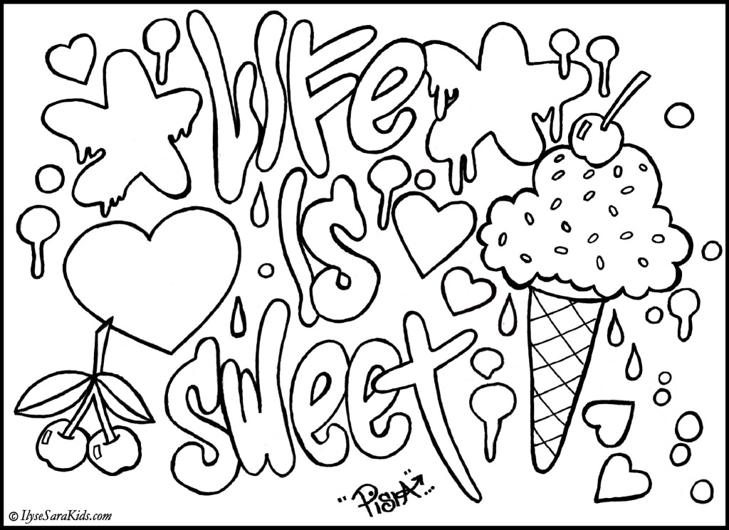 graffiti coloring pages free - photo#2