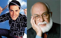Left: Uri Geller, Right: James Randi