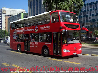 Ônibus turístico em Santiago do Chile
